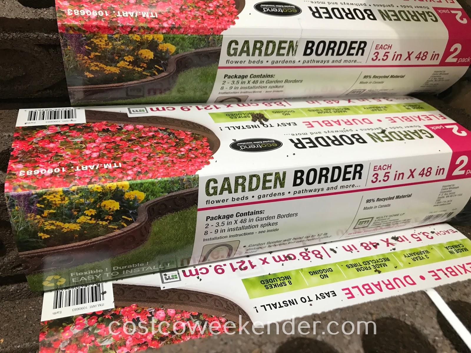 Ecotrend Flexible Rubber Garden Border: great for any home garden