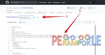 Kode Embed Playlist youtube untuk blogger