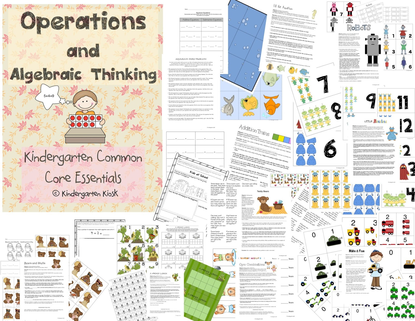 Kindergarten Kiosk Operations Amp Algebraic Thinking