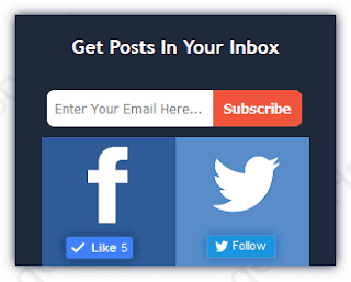 How to add Beautiful Email subscription widget to blogger blogs.