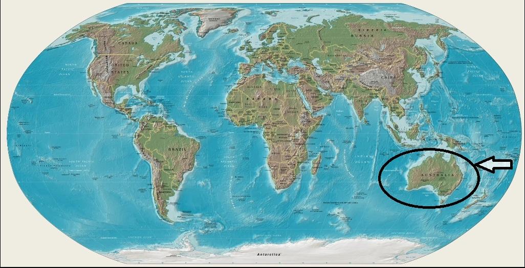 oceaniaaustraliaJL MAPA DE UBICACIN