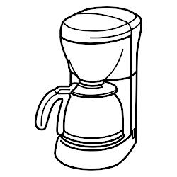 colorear cafeteras cafetera dibujos dibujo utensilios cocina molinillo cafe imagen