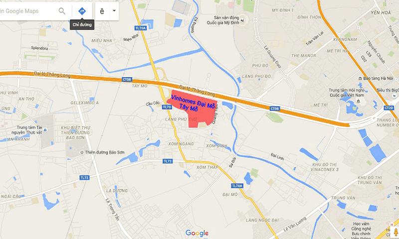 Chung cư Vincity Tây Mỗ sở hữu vị trí đắc địa tại trung tâm thủ đô
