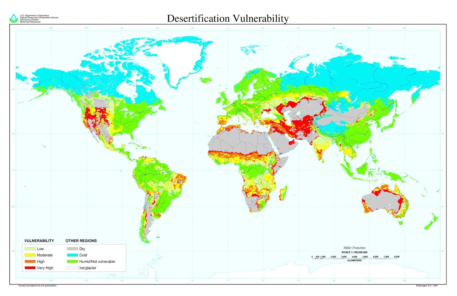 Desertification vulnerability
