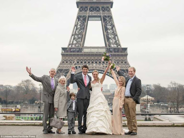 Amazing! Cute Couple Ties Knot In 8 Different Countries - Photos
