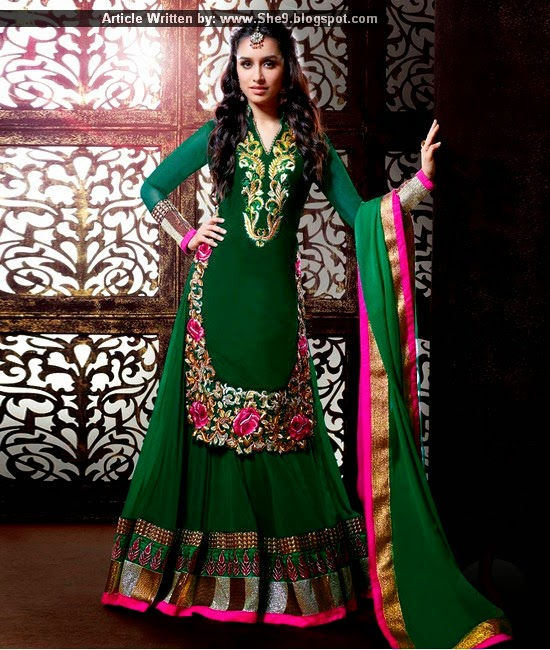 Shraddha Kapoor Indian Designer Dresses