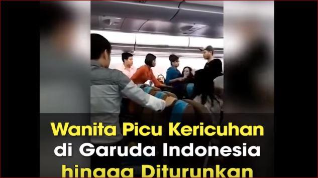 Kericuhan Di Pesawat Garuda Indonesia, Wanita Ini Marah Hanya Karena Kakinya Diinjak Anak Kecil