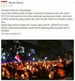 Perserta Aksi Lilin yang Usik Bobotoh Persib Bukan Warga Bandung