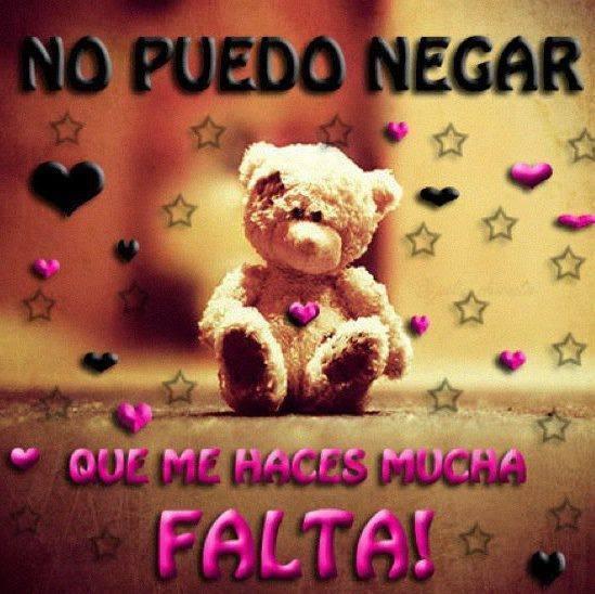 Te Extrao Mucho Mi Amor Y Me Haces Falta Frases T Amor