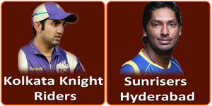 सनराईज़र्स हैदराबाद बनाम कोलकाता नाईट राईडर्स 19 मई 2013 को है।
