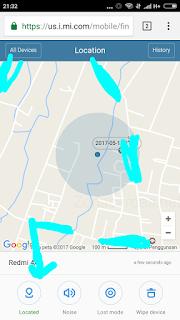 Gambar 4. Klik Locate Device.