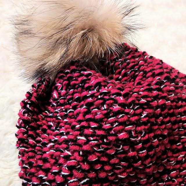 Melanżowa czapka knitting