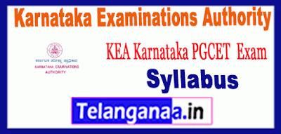 Karnataka Examinations Authority PGCET Syllabus 2019 Sample Model Previous Solved Papers