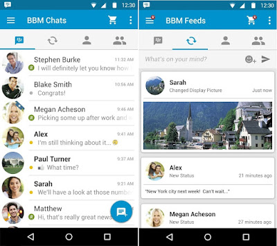 Screenshot BBM Chats and Feeds