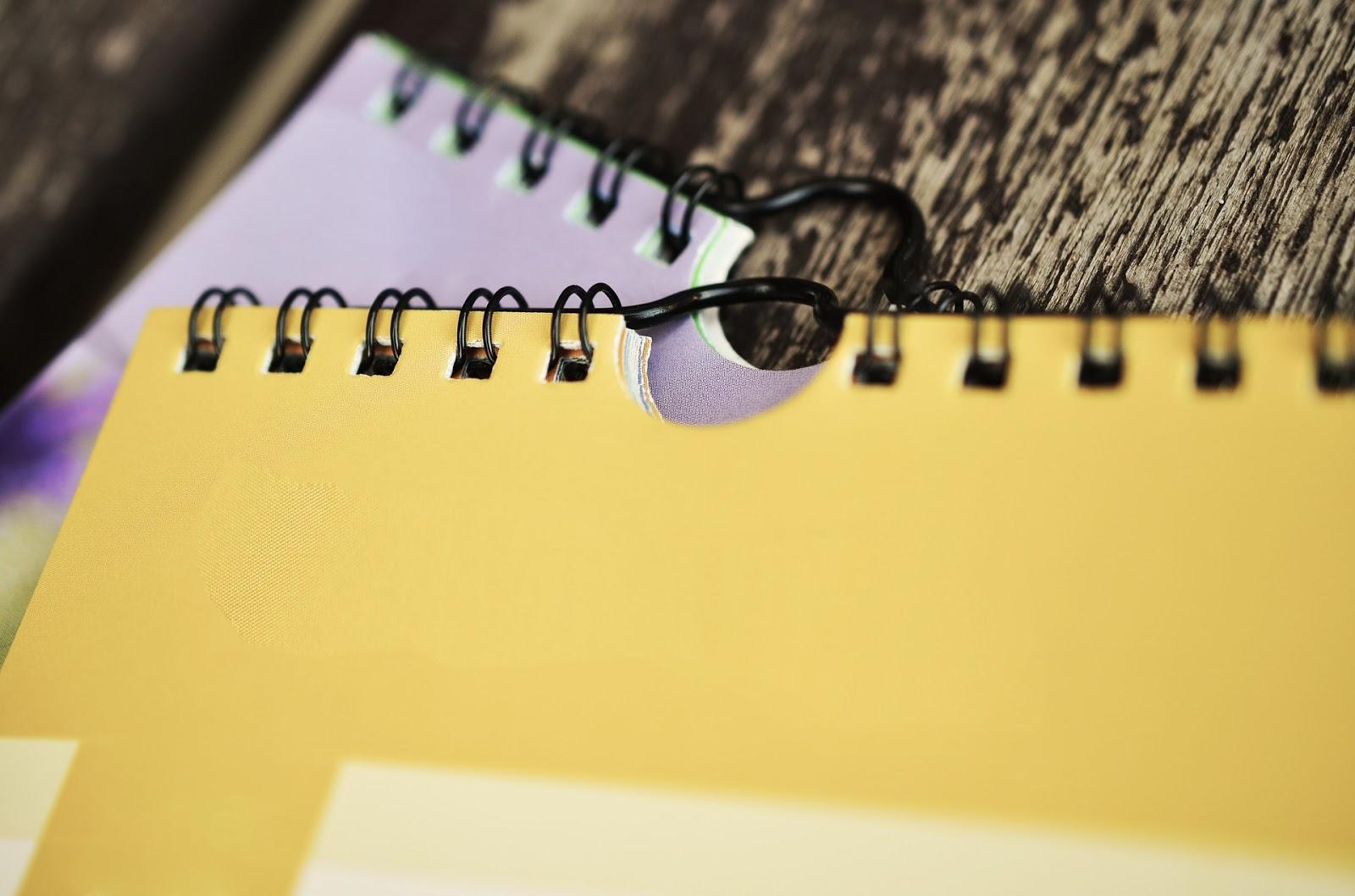 postanowienia noworoczne notes do planowania
