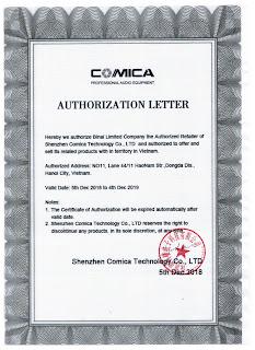 Comica Certificate