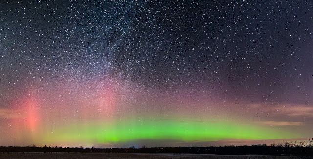 Aurora Borealis and Milky Way