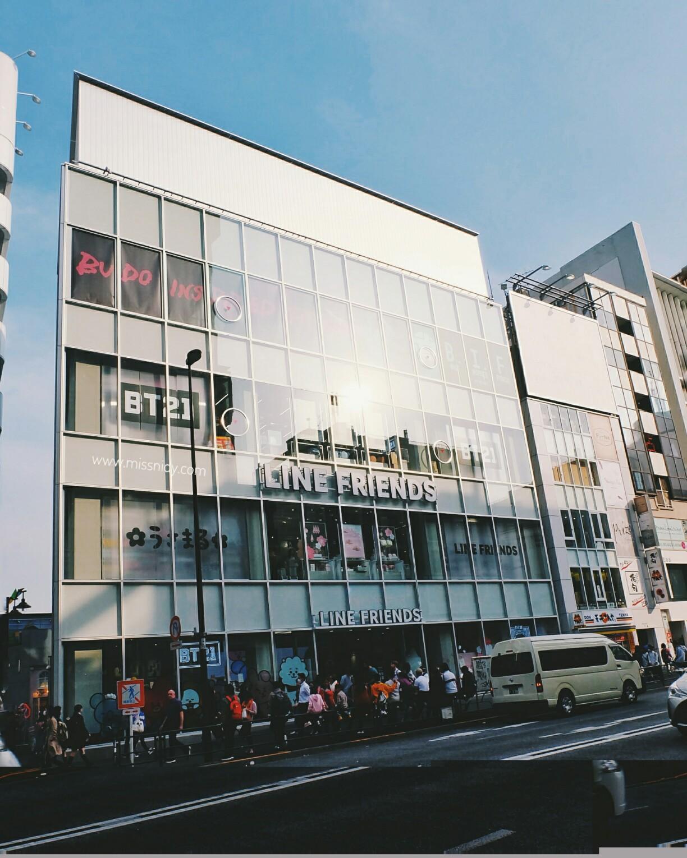 lokasi line store di harajuku tokyo