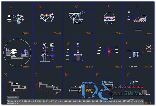 Sports Hall in AutoCAD