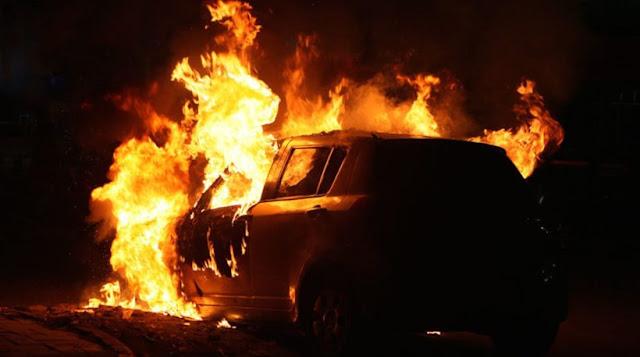 Τραγικός θάνατος για οδηγό - Κάηκε ζωντανός μέσα στο αυτοκίνητό του