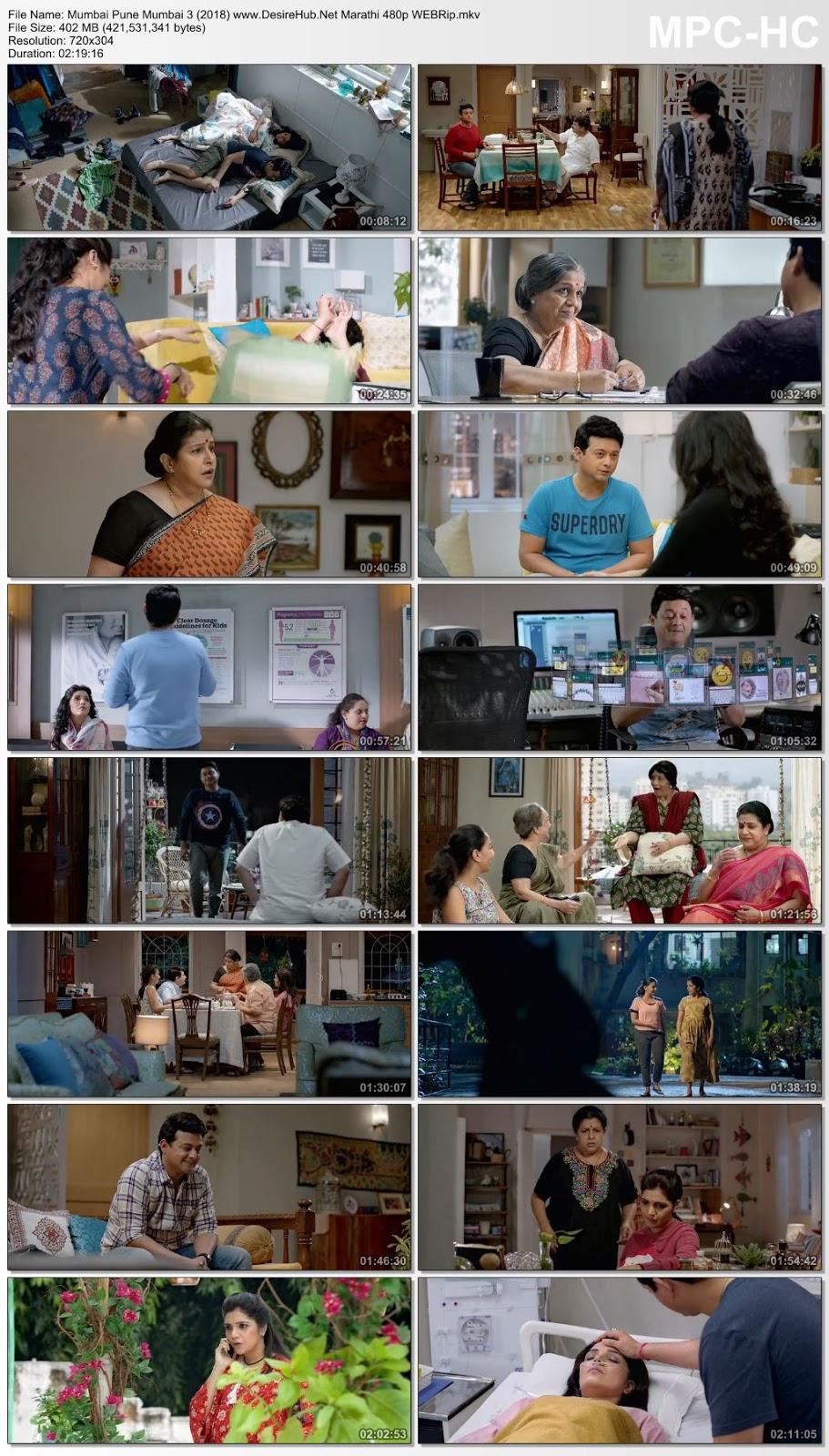 Mumbai Pune Mumbai 3 (2018) Marathi 480p WEBRip 400MB Desirehub