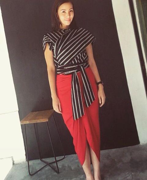 model baju lurik modern