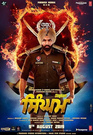 Poster Of Pollywood Movie Singham 2019 300MB PdvdRip 480P Full Punjabi Movie