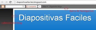 Vista de la Barra de navegación de Blogger activada
