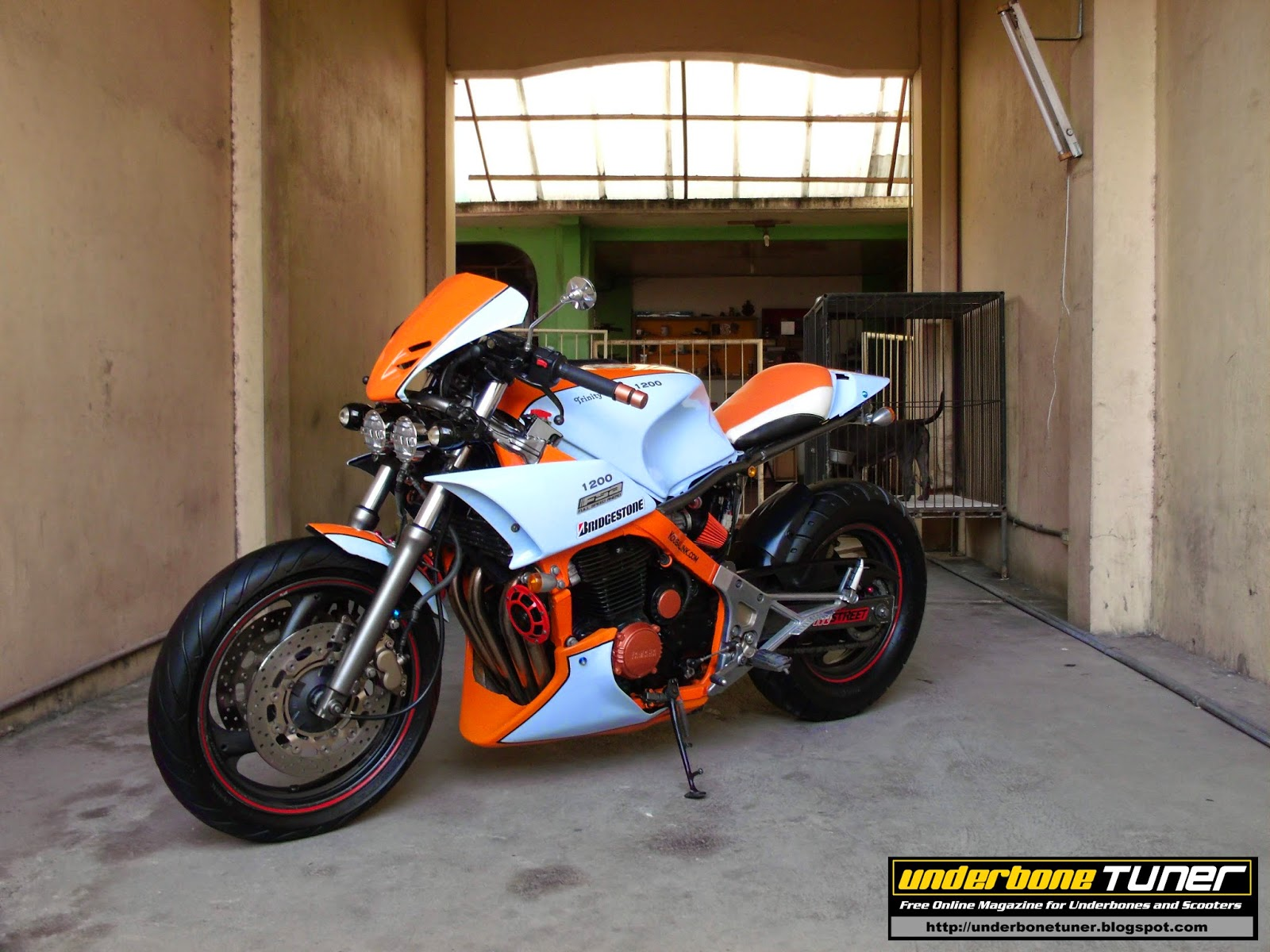 underbone tuner: The Yamaha FJ1200 Street fighter by Trinity Customs Werx