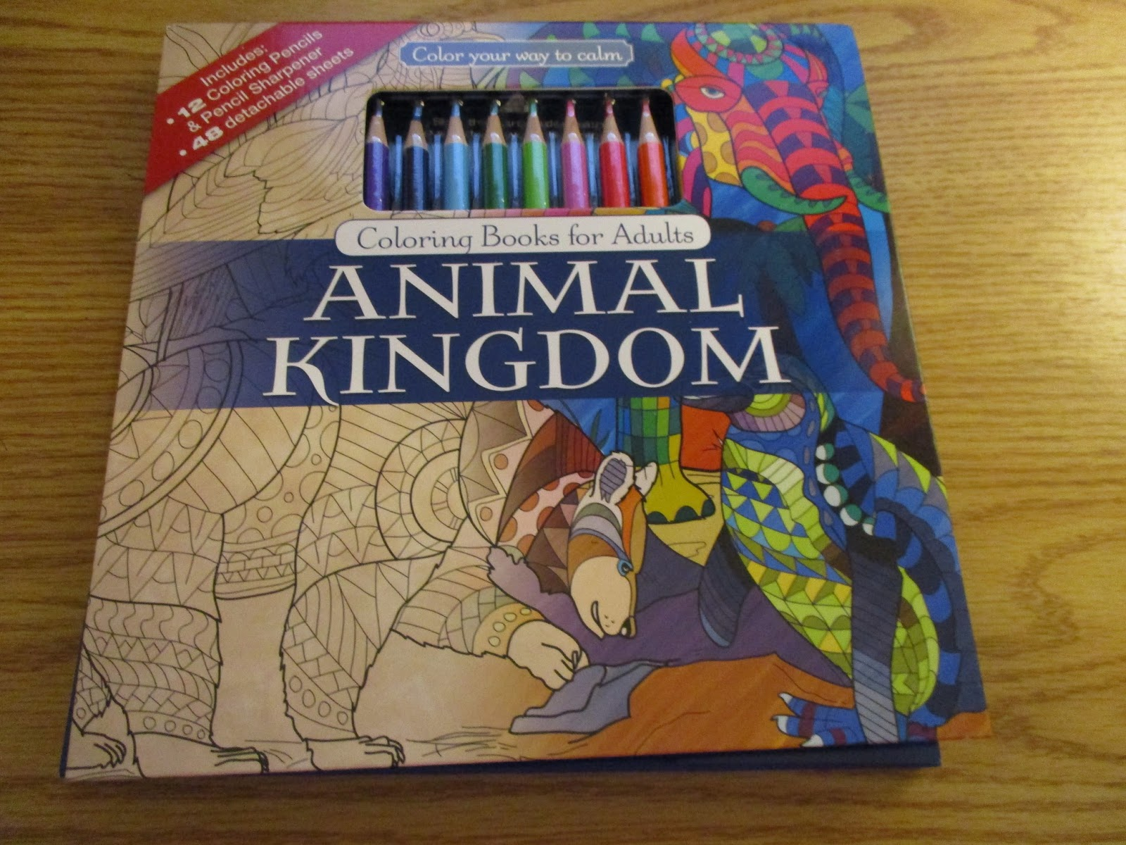 Color With Music Animal Kingdom Coloring Book Includes 24 Colored Pencils A Sharpener You Can Your Way To Calm This Of 48 Pages Single