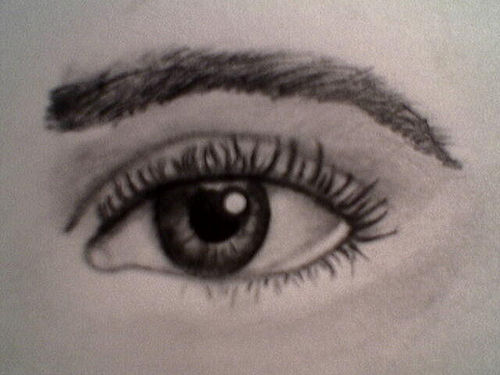 How to draw realistic human eyes