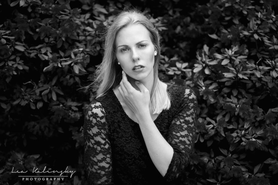 emotionales Foto in schwarz weiß
