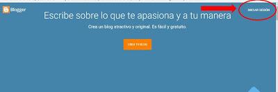 iniciar sesion blogger