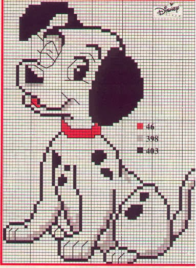 Raccolta di schemi punto croce cartoni animati la