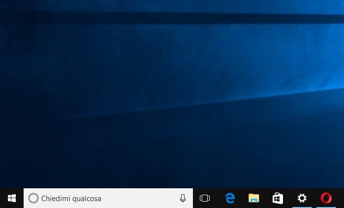 Casella di Ricerca Cortana bianca; anomalia in Windows 10