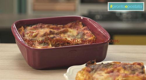 Pronto e postato - Lasagnetta caprese ricetta Benedetta Parodi