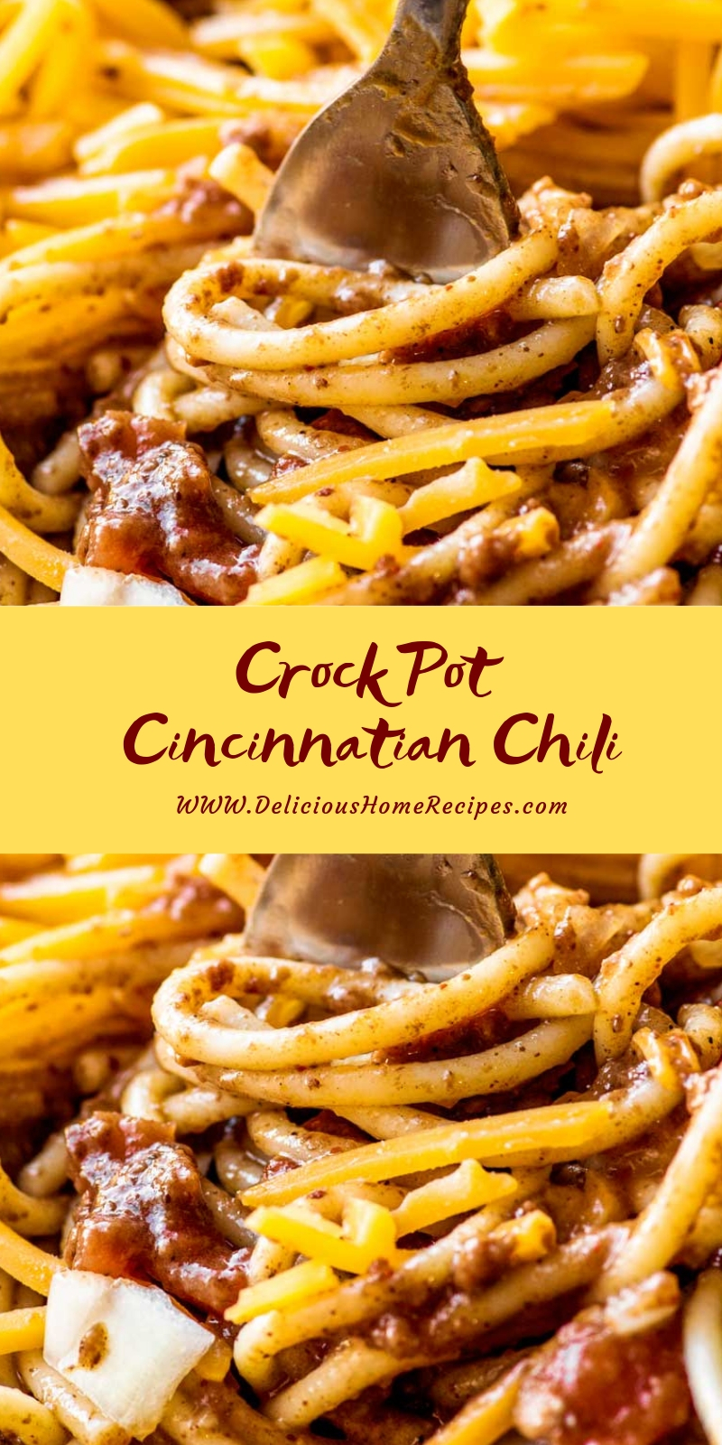 Crock Pot Cincinnatian Chili