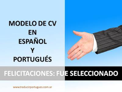curriculum vitae, español, portugués