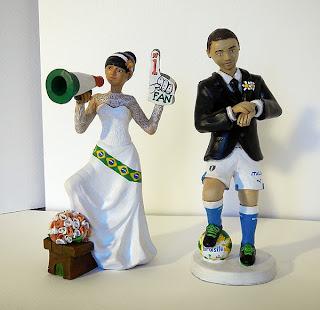 statuine matrimonio sposi torta sposini personalizzato giocatore orma magiche