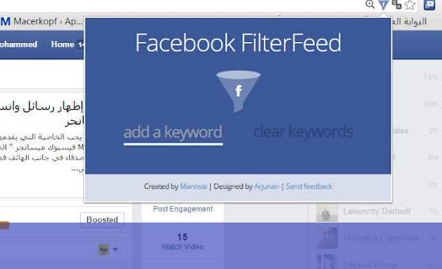 تعرف على أداة Facebook Filter Feed