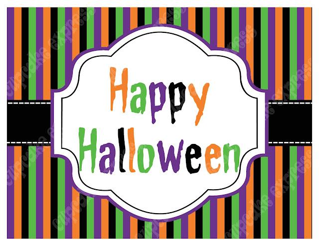 Free Happy Halloween Signs!