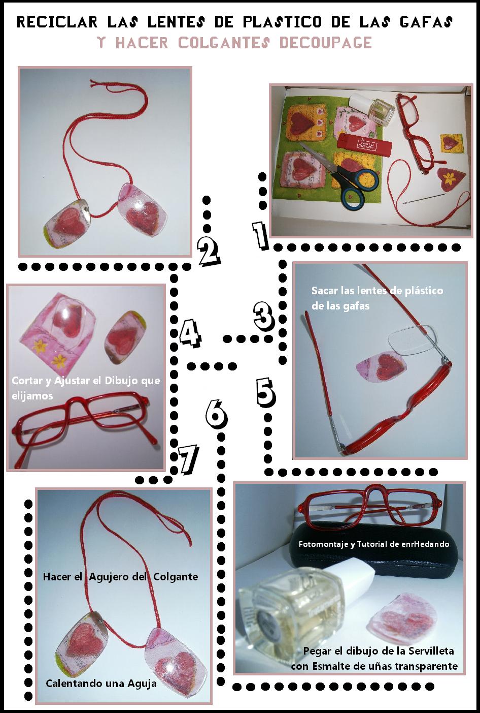 gafas, colgantes, bisutería, manualidades, transformar