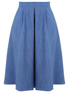 Miss Selfridge's Blue Midi Skirt