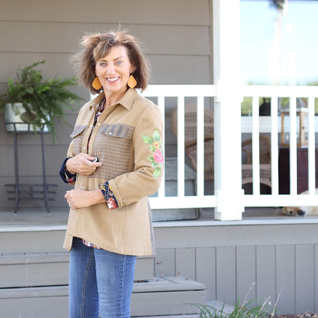 McCall's jacket with Embroidery created in Premier +2 Embroidery Ultra Software