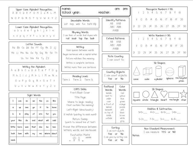 Kindergarten Report Card Templates - D-Templates - blank report card printable free