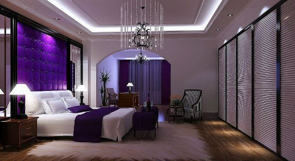 How to use purple in the bedroom