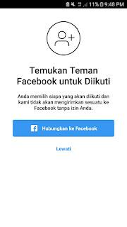 Hubungkan instagram ke facebook