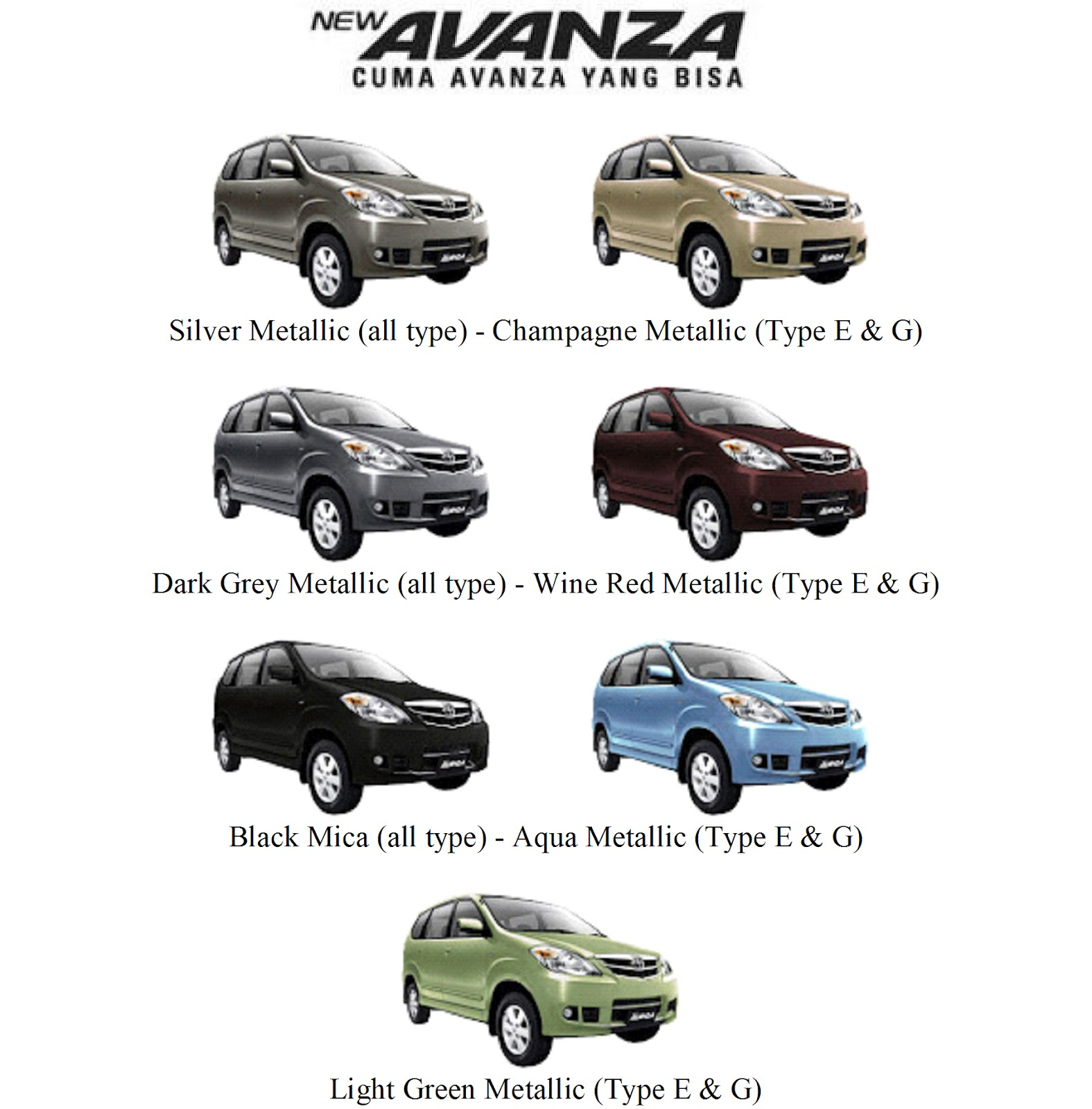 Grand New Avanza Warna Grey Metallic Cara Reset Ecu Harga Toyota All E Ottomania86 Berbagi Informasi 2012 Banjarmasin Kalimantan