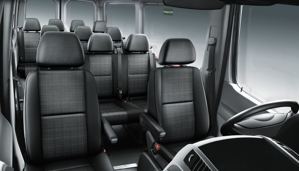 2016 Mercedes-Benz sprinter passenger van interior