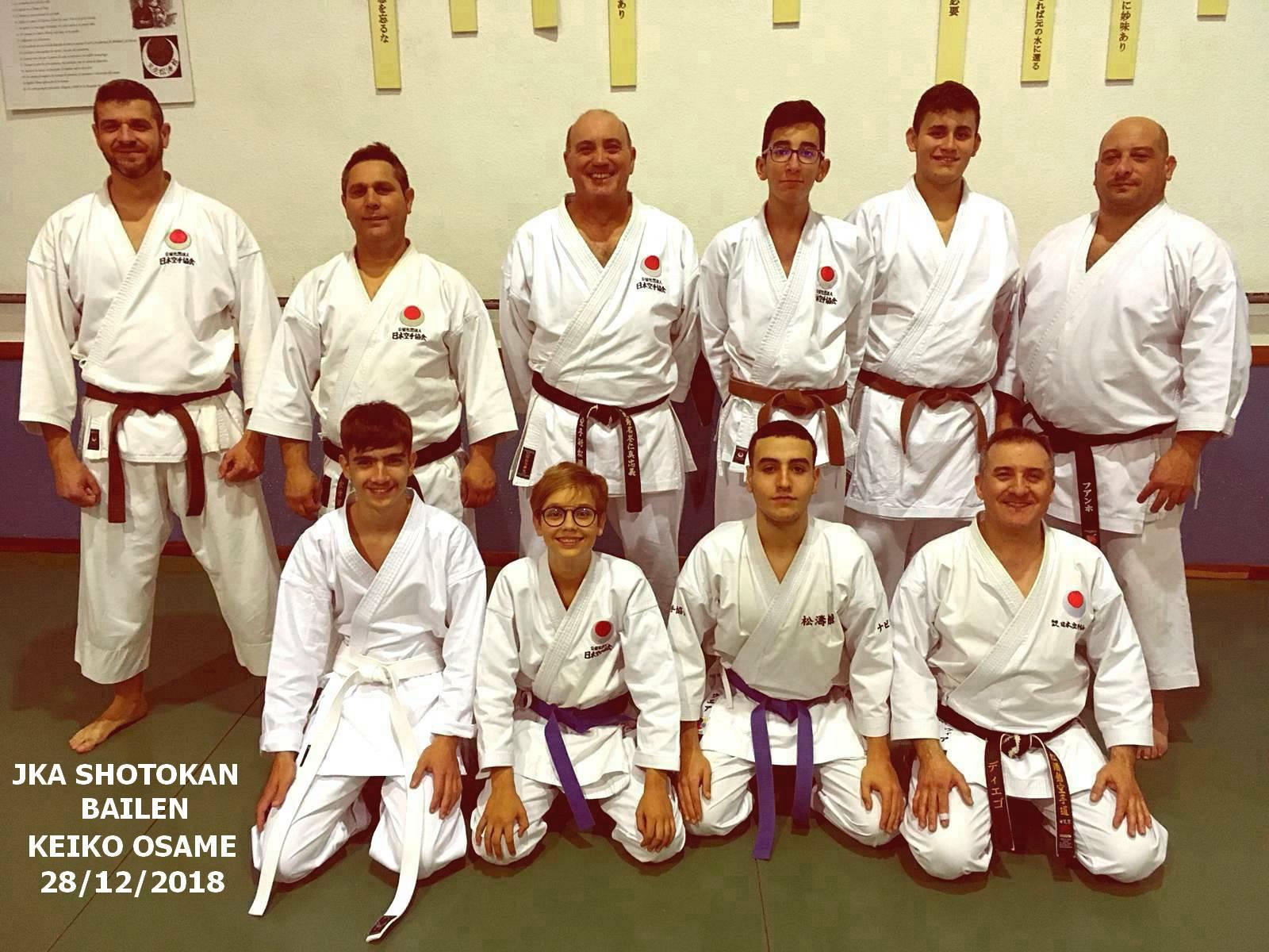 Karate Shotokan Jka Bailen Gimnasio Municipal Diciembre 2018